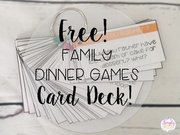 FREE! Family Dinner Game Card Deck