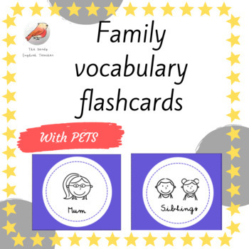 FREE Family vocabulary flashcards