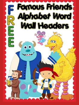 {FREE} Famous Friends Word Wall Headers