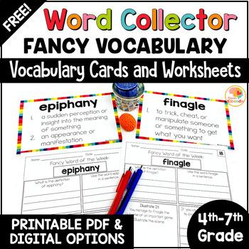 FREE Fancy Vocabulary Words