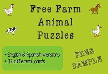 FREE Farm Animal Puzzles
