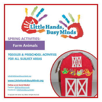 SPRING: FREE Farm Animals Weekly Thematic Unit for Toddlers & Preschoolers