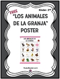 FREEBIE Farm Animals Poster in Spanish/ Animales de la Granja