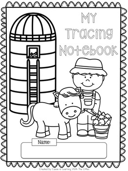 FREE Farm Themed Number Tracing Pages