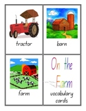 Farm Vocabulary Cards
