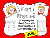 "FREE ""Fast Rhymes"" Center Game with recording sheets"