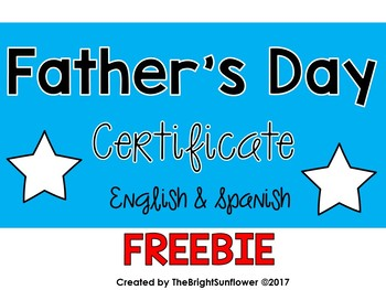 FREE Father;s Day Certificate/ Diploma