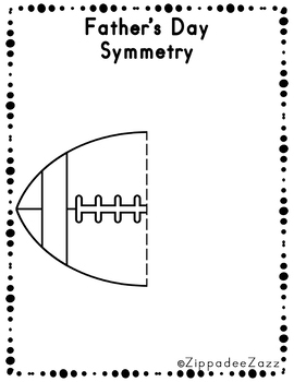 FREE Father's Day Symmetry Drawing Activity for Art and Math SAMPLE