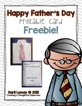 FREE Father's Day Card Printable