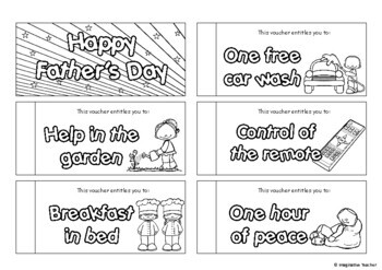 FREE Father's Day Voucher Book