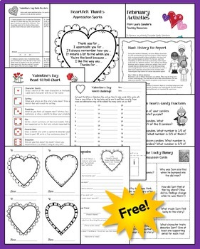 FREE February Printables and Activities