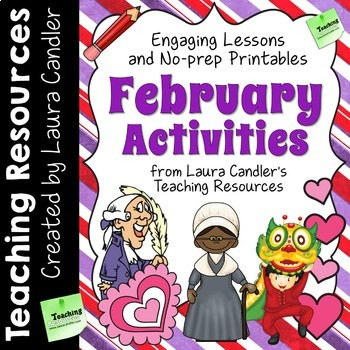 February Activities and Printables Freebie by Laura Candler | TpT