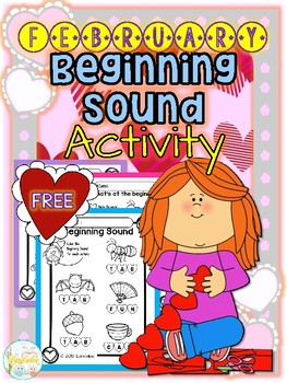 FREE February Beginning Sound Activity