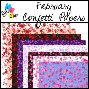 FREE!!! February Confetti Papers