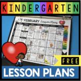 FREE February Lesson Plans - Valentine's Day - Free printa