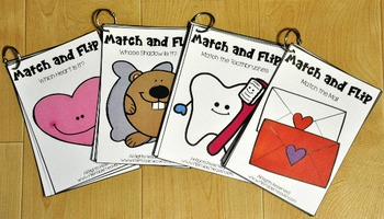 Matching Activities:  February Match and Flip Books