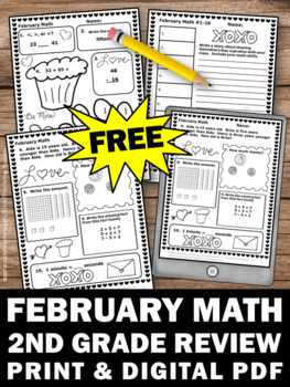 free february math daily morning work worksheets 3rd grade review homework. Black Bedroom Furniture Sets. Home Design Ideas
