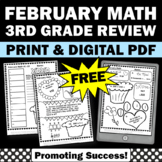 FREE February Math Daily Morning Work 3rd Grade Worksheets