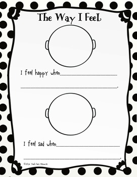 FREE Feelings Worksheet and Mini-Book for Pre-K to 1