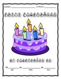 FREE Feliz Cumpleaños Spanish Birthday Worksheet: Practice Writing Dates