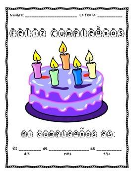 free feliz cumpleaños spanish birthday worksheet practice writing dates