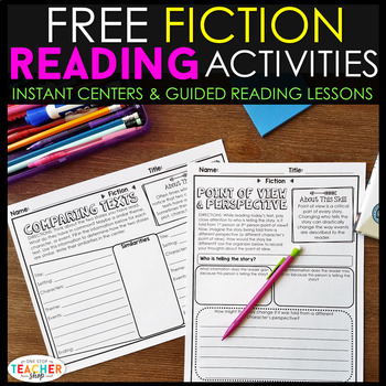 Fiction Reading Centers | Graphic Organizers for Reading FREE