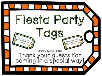 FREE Fiesta Party Tags
