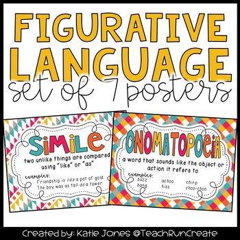 Figurative Language Anchor Charts By Katie Jones  Tpt