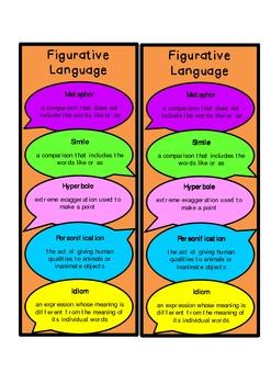 FREE Figurative Language Bookmark