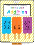 FREE File Folder Game Double Digit Addition Without Regrouping Ice Pop Theme