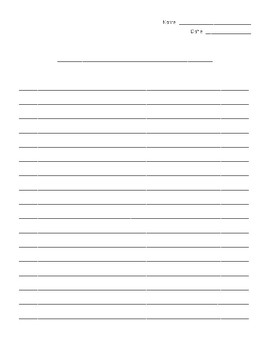 FREE Final Draft Lined Paper