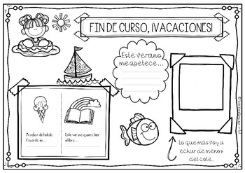 FREE Final fin de curso verano vacaciones graduación gratis español
