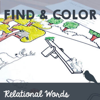 FREE Find & Color Back to School Speech Therapy: Following Relational Directions