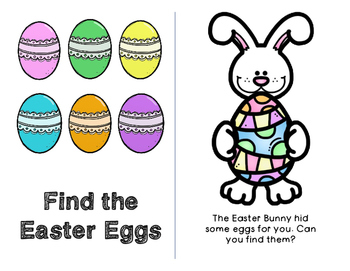 Easter FREE Prepositional Emergent Reader