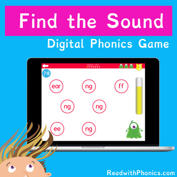 FREE! Find the Phonics Sound. Online Digital Phonics Games. Grapheme Recognition