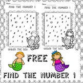 FREE Find the number 1 activity