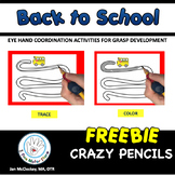 FREE Fine Motor Pencil Skills Activities Back to School Themed