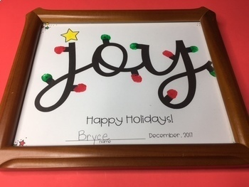 FREE Holiday Art Fingerprint Activity