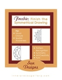 FREE Finish the Symmetrical Drawing SUN DESIGNS for Visual Skills