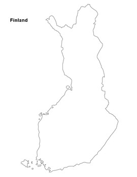 FREE - Finland - Suomi - Map Outline by The Harstad ...