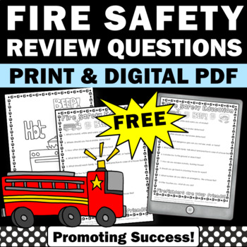 FREE Fire Safety Prevention Week Video & Literacy Workshee