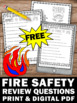 FREE Fire Safety Reading Comprehension, Fire Safety Week Activities