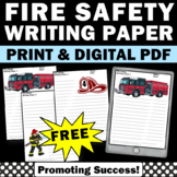 FREE Fire Safety Writing Papers for Fire Safety Unit