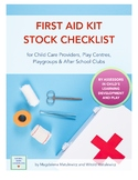 FREE First Aid Kit Stock Check List