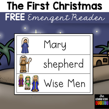 FREE First Christmas Emergent Reader