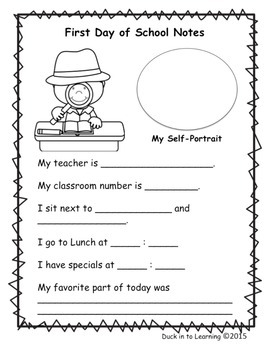 FREE-First Day of School Activity with a Detective Theme