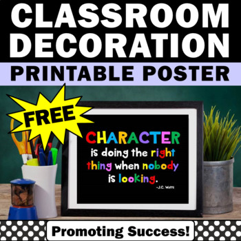 picture regarding Free Printable Classroom Posters called Totally free Identity Instruction Poster, Printable Clroom Posters