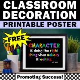 FREE Download Back to School Poster, Character Education Poster