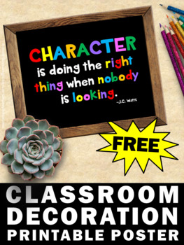 photo relating to Printable Classroom Posters identified as Absolutely free Individuality Instruction Poster, Printable Clroom Posters InstaFreebie