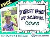 FREE First Day of School Crowns {for PreK}